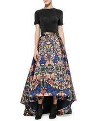 Alice + Olivia - Multicolor Cohe Asymmetric Printed Skirt - Lyst