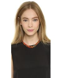 Gemma Redux | Multicolor Splatter Chain Necklace - Splatter/Rainbow | Lyst