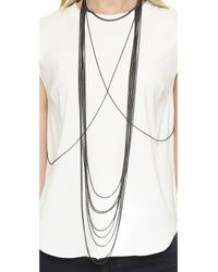 Chan Luu | Metallic Draping Body Chain - Gunmetal | Lyst