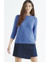 Oasis - Blue Honeycomb Stitch Jumper - Lyst