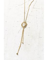 Urban Outfitters - Metallic Playful Knots Versatile Lariat Necklace - Lyst