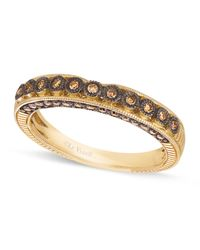 Le Vian | Brown Chocolate Diamond Wedding Band (1/4 C. T.w.) In 14k Gold | Lyst