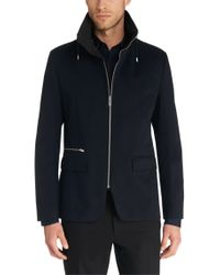 HUGO   Blue Regular Fit Cotton Jacket: 'agidius' for Men   Lyst