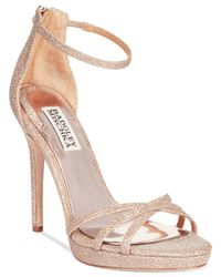 Badgley Mischka | Pink Signify Evening Sandals | Lyst