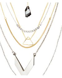 H&M - Metallic 7-Pack Necklaces - Lyst