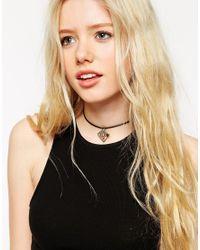 ASOS - Black Open Arrow Choker Necklace - Lyst