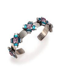 DANNIJO - Multicolor Alexia Crystal Station Cuff Bracelet - Lyst