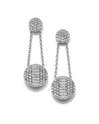 Phillips House | Metallic Affair Diamond & 14k White Gold Infinity Double-drop Earrings | Lyst