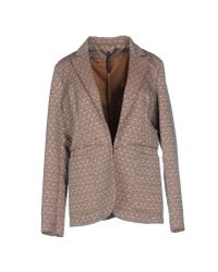 Manila Grace - Natural Blazer - Lyst