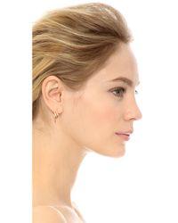 Rachel Zoe - Metallic Metal Pod Crossover Earrings - Lyst