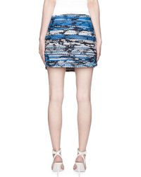 Matthew Williamson | Black Blue and Gold Embroidered Taj Tapestry Mini Skirt | Lyst