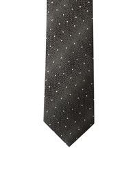 Lanvin | Black Micro Dot-jacquard Silk Tie for Men | Lyst