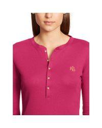 Ralph Lauren | Pink Henley Pajama Set | Lyst