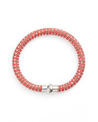 Nu Brand | Orange Beaded Bracelet - Padparadscha | Lyst