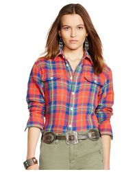 Polo Ralph Lauren | Blue Relaxed-fit Plaid Shirt | Lyst