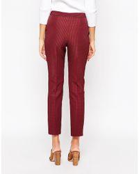 ASOS - Purple Tall Textured Cigarette Trouser - Lyst