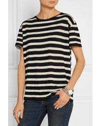 R13 - Black Boy Striped Cotton And Cashmere-blend T-shirt - Lyst