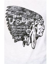 True Religion | White Indian Print Womens Tee | Lyst