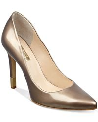 Guess | Metallic Babbitta Pointed-toe Pumps | Lyst