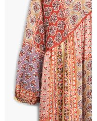 Mango | Pink Contrast-bodice Dress | Lyst