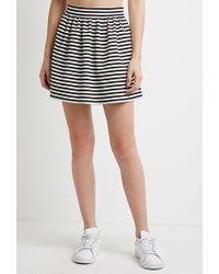 Forever 21 | Black Striped A-line Mini Skirt | Lyst