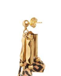 Ela Stone - Metallic Leopard Print Chain Earrings - Lyst