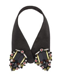 Marni | Black Fabric Collar With Beads In Coloured Glass | Lyst