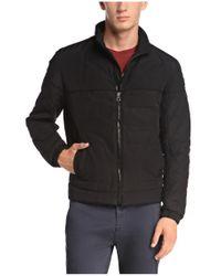 BOSS Orange | Black Jacket 'oskar-w' In Cotton Blend for Men | Lyst