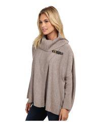 Calvin Klein | Gray Sweater Cape W/ Buckle | Lyst