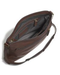 COACH - Blue Bleecker Zip Top Crossbody in Leather for Men - Lyst