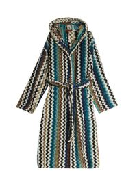 Missoni | Blue Towelling Dressing Gown | Lyst
