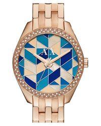 Armani Exchange - Blue 'smart - Mosaic' Bracelet Watch - Lyst