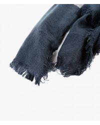 Azalea - Blue Color Block Scarf - Lyst