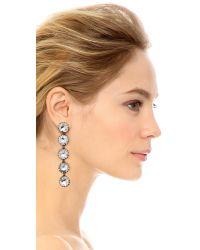Sam Edelman | Multicolor 5 Stone Linear Earrings | Lyst