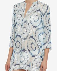 Marie France Van Damme - Multicolor Embroidered Floral Tunic - Lyst