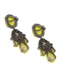 Shourouk - Yellow Earrings - Lyst