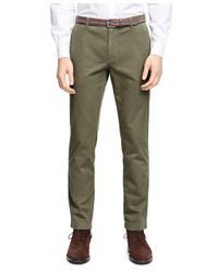 Brooks Brothers - Green Garment-dyed Chinos for Men - Lyst