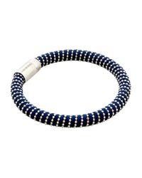 Carolina Bucci - Black Twister Bracelet Silver - Lyst