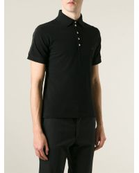 Vivienne Westwood - Black Logo Embroidered Polo Shirt for Men - Lyst