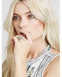 Free People | Metallic Communion By Joy Smith Womens Eye Of The Warrior Ring | Lyst