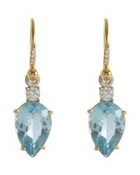 Irene Neuwirth - Metallic Gemstone Drop Earrings - Lyst