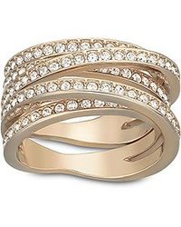 Swarovski | Pink Spiral Ring | Lyst