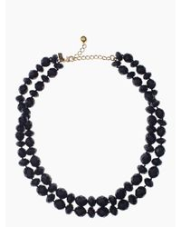 kate spade new york - Blue Give It A Swirl Twisted Necklace - Lyst