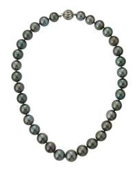 Belpearl - Gray Tahitian Pearl Strand Necklace - Lyst