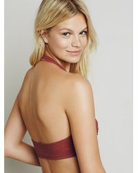 Free People - Red Tell Me Everything Soft Bra - Lyst
