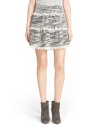 IRO | Gray Fringe Tiered Skirt | Lyst