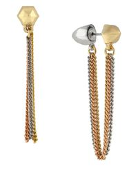 BCBGeneration - Metallic Two-Tone Tunnel Earrings - Lyst