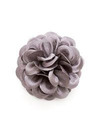 Hook + Albert - Gray Lapel Flower Pin for Men - Lyst