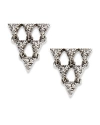 House of Harlow 1960 - Metallic Open Triangle Earrings - Lyst
