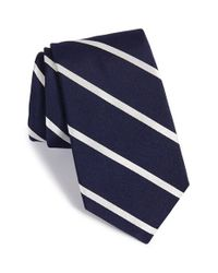Ike Behar | Blue 'saratoga Stripe' Silk Tie for Men | Lyst